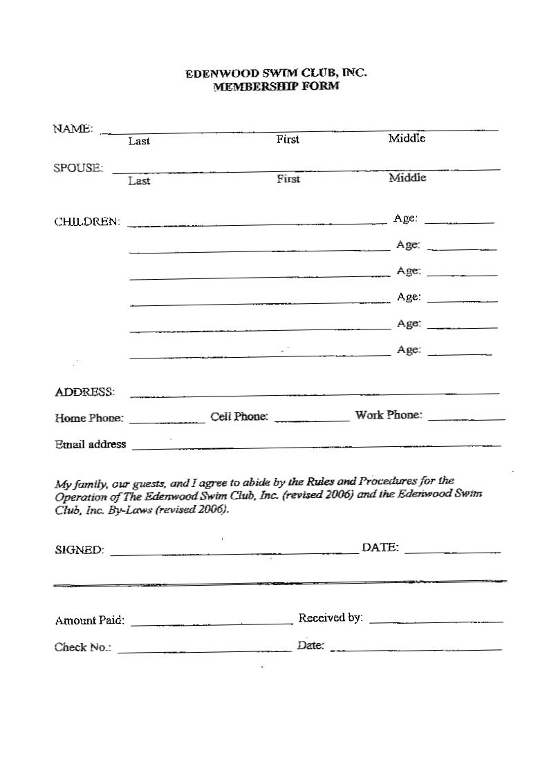 A Blank Employment Application | Employment Application